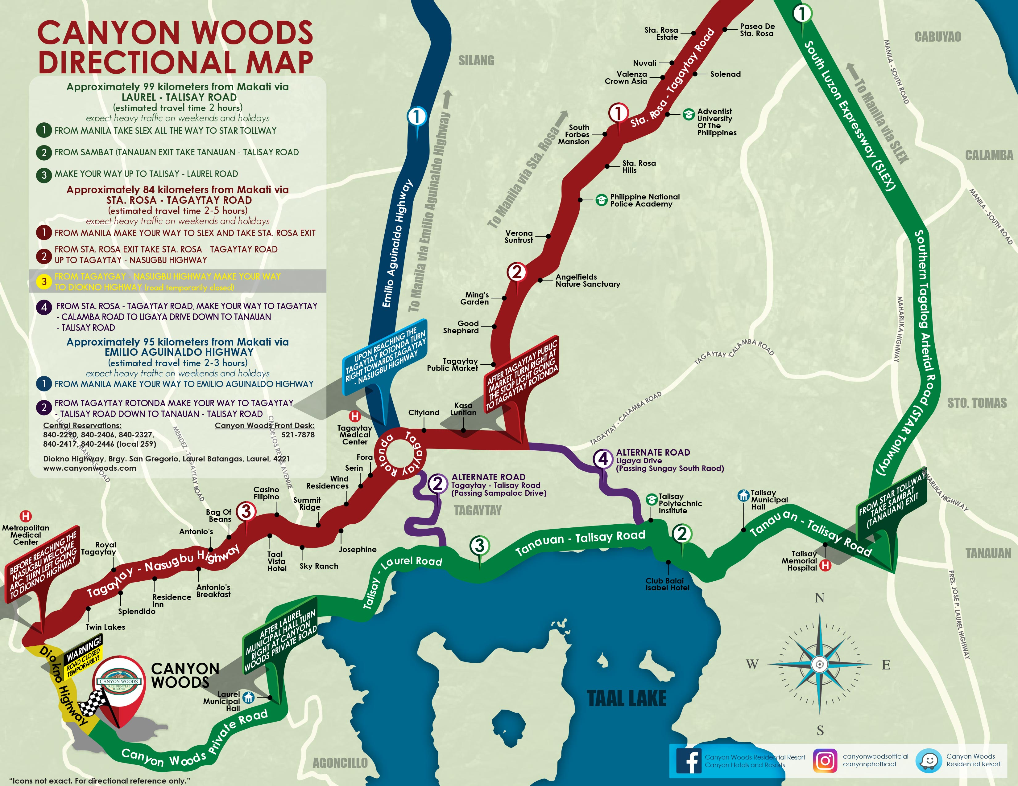Directional Map - Canyon Woods on